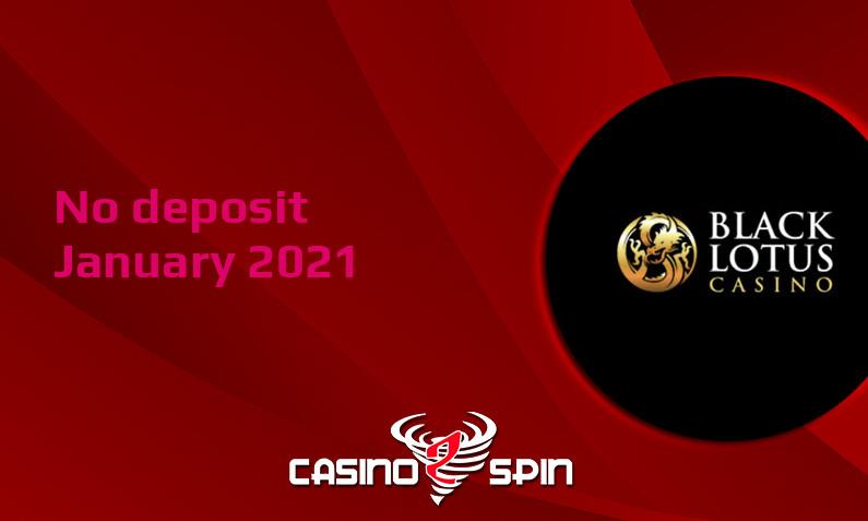 Latest Black Lotus Casino no deposit bonus 15th of January 2021