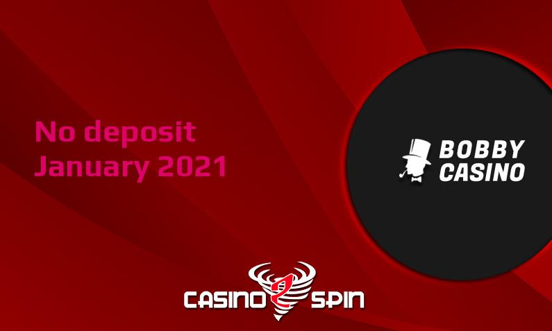 Latest Bobby Casino no deposit bonus January 2021