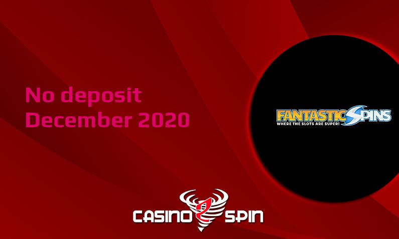 Latest Fantastic Spins no deposit bonus December 2020