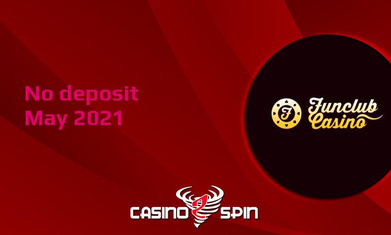 Latest Funclub Casino no deposit bonus May 2021