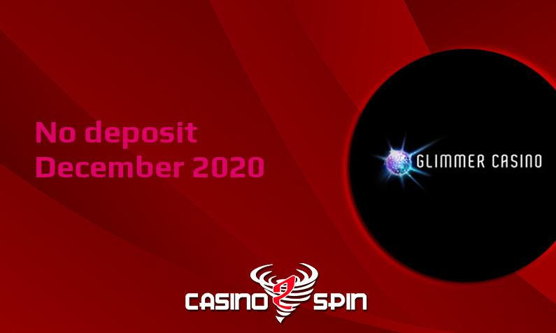 Latest Glimmer Casino no deposit bonus, today 1st of December 2020