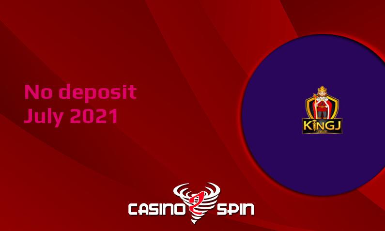 Latest KingJCasino no deposit bonus July 2021