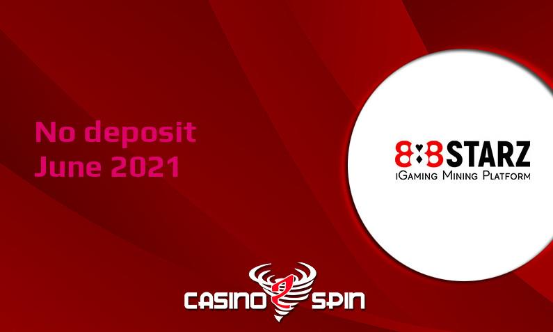Latest no deposit bonus from 888Starz, today 13th of June 2021