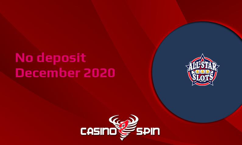 Latest no deposit bonus from All Star Slots Casino 15th of December 2020