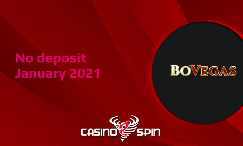 Latest no deposit bonus from BoVegas Casino- 16th of January 2021
