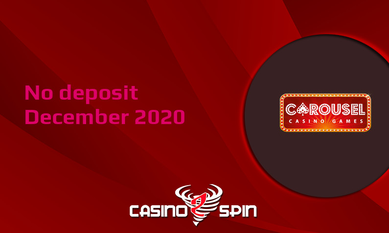 Latest no deposit bonus from Carousel Casino, today 8th of December 2020