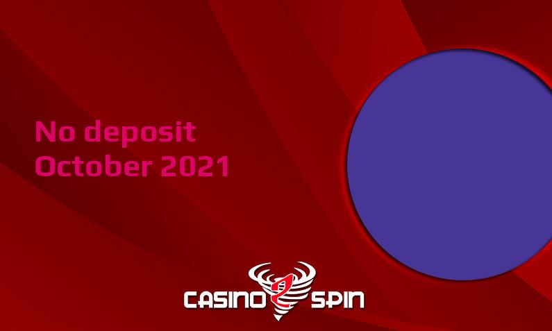 Latest no deposit bonus from Casino Purple- 9th of October 2021