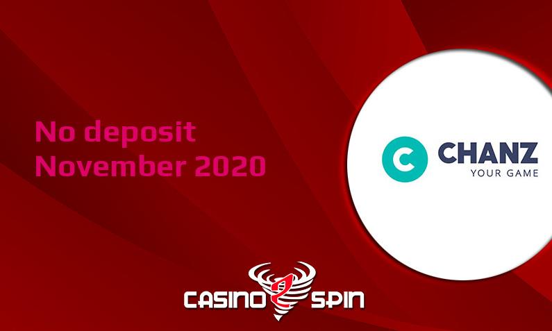 Latest no deposit bonus from Chanz Casino- 30th of November 2020