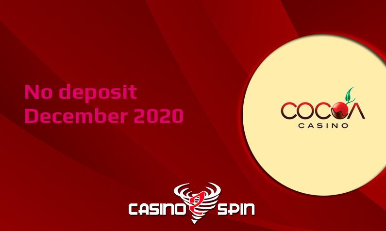 Latest no deposit bonus from Cocoa Casino 6th of December 2020