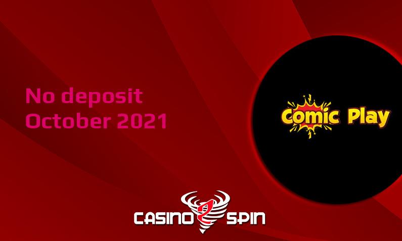 Latest no deposit bonus from ComicPlay October 2021