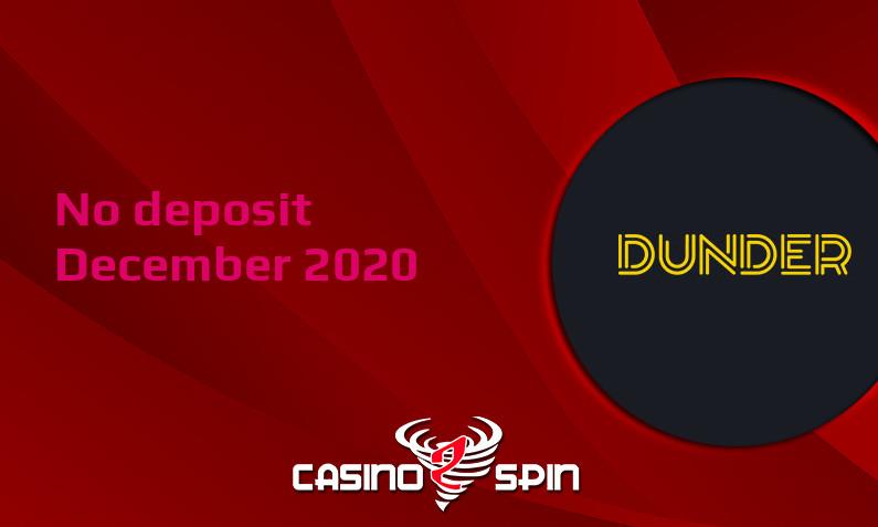 Latest no deposit bonus from Dunder Casino December 2020