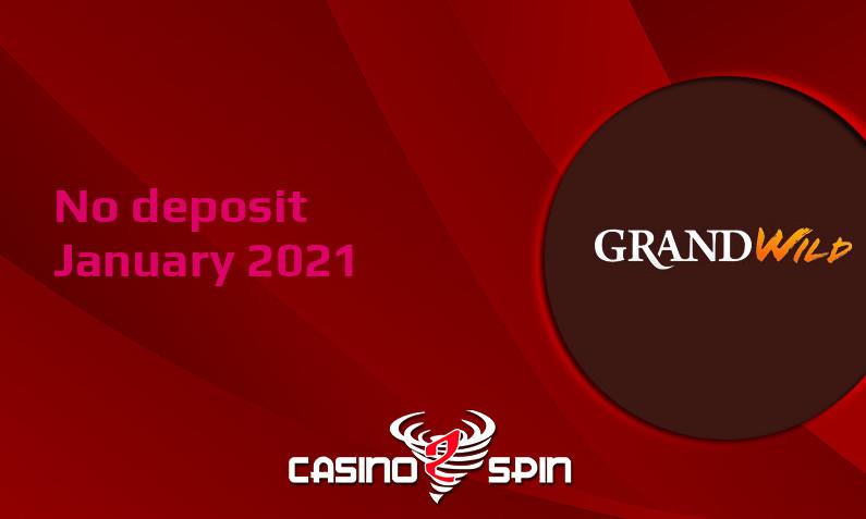Latest no deposit bonus from GrandWild Casino- 17th of January 2021