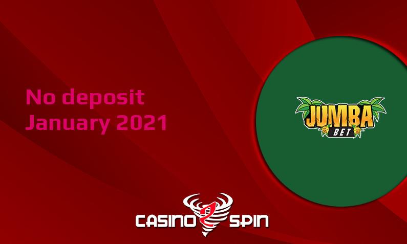 Latest no deposit bonus from Jumba Bet Casino, today 13th of January 2021