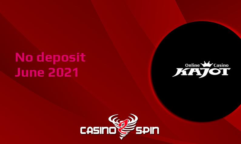Latest no deposit bonus from Kajot, today 4th of June 2021