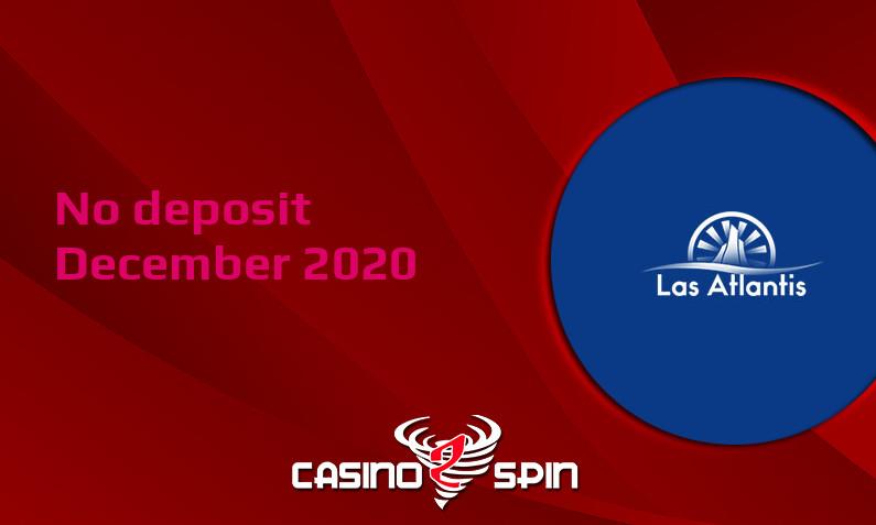 Latest no deposit bonus from Las Atlantis, today 9th of December 2020