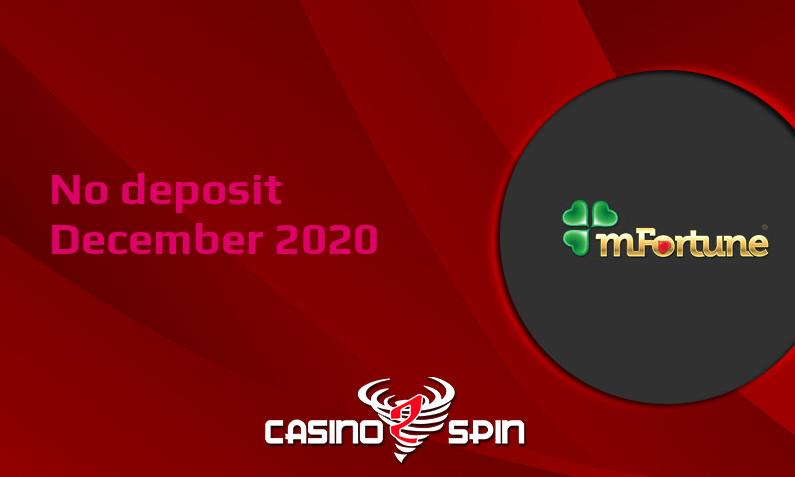 Latest no deposit bonus from mFortune Casino, today 5th of December 2020