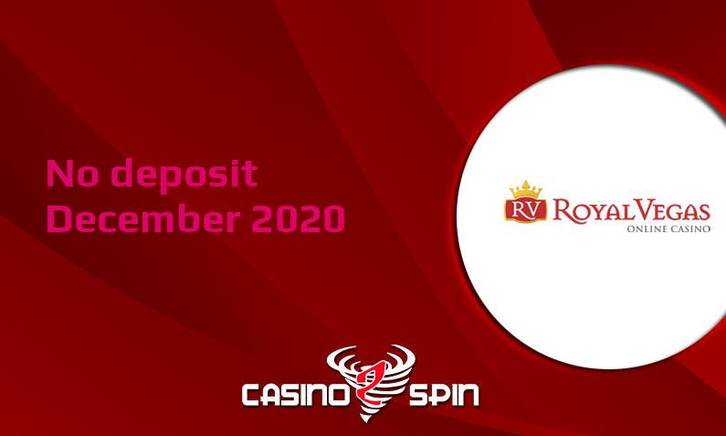 Latest no deposit bonus from Royal Vegas Casino- 11th of December 2020