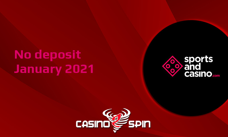 Latest no deposit bonus from SportsandCasino, today 11th of January 2021