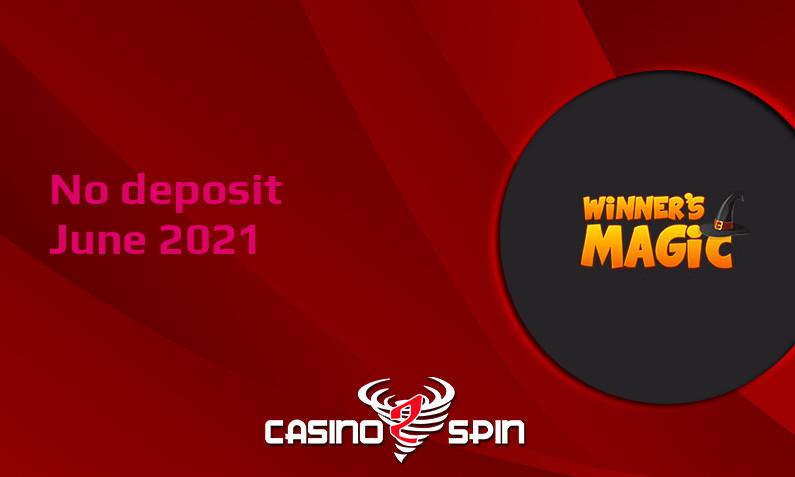 Latest no deposit bonus from Winners Magic- 16th of June 2021