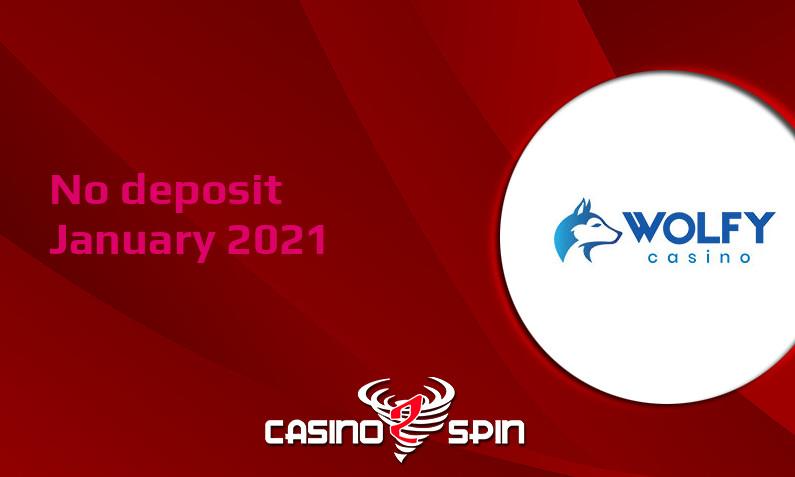Latest no deposit bonus from Wolfy Casino 10th of January 2021