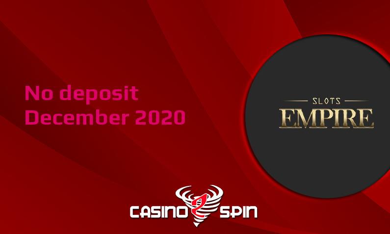 Latest Slots Empire no deposit bonus 8th of December 2020