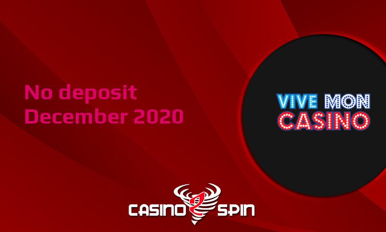 Latest Vive Mon Casino no deposit bonus- 17th of December 2020