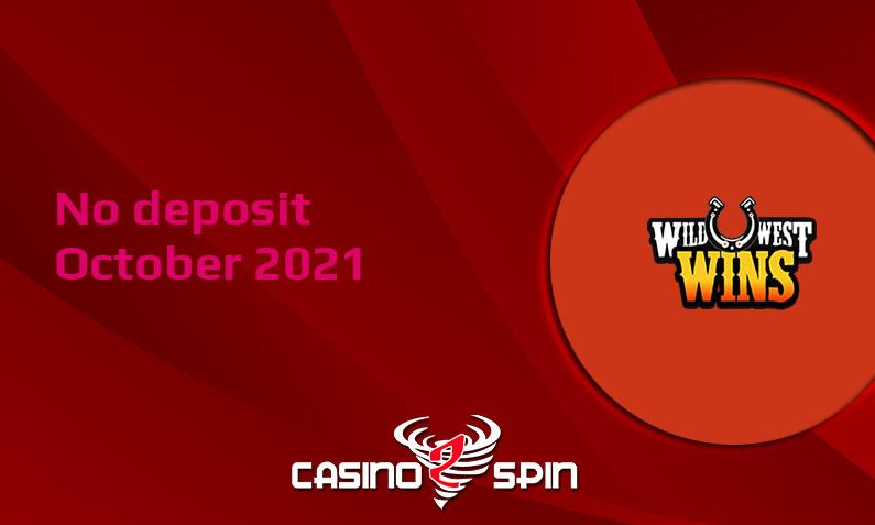 Latest Wild West Wins no deposit bonus October 2021