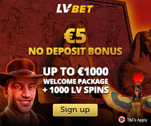Featured bonus from LVbet Casino